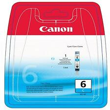 GENUINE OEM CANON BCI-6C CYAN PRINTER INK CARTRIDGE / 13ML CAPACITY/ 440 PAGES