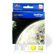 GENUINE OEM BROTHER LC1000Y YELLOW PRINTER INK CARTRIDGE - LC1000 LC-1000