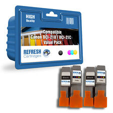 REFRESH CARTRIDGES BCI-21BK 4 CARTRIDGE VALUE PACK COMPATIBLE WITH CANON PRINTER