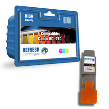 REFRESH CARTRIDGES COLOUR BCI-21C / 0955A002 INK COMPATIBLE WITH CANON PRINTERS