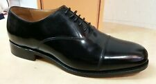 Barker Luton Goodyear Welted Leather G (Wide) Fitting Shoes Black Hi Shine 200B