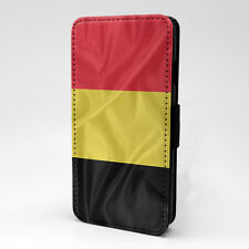 Country Flag Belgium Flip Case Cover For Apple iPhone - T2347