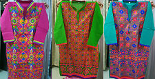 Cotton Kathiyawadi Kurtis Embroidered (XL-42) From Kutch