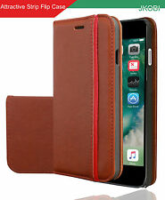 Professional Magnetic PU Leather Flip Wallet Case Cover For Apple iPhone 7
