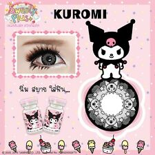 Gray Contact Lenses Hello Kitty Cartoon Set 04 Free Case+Refill bottles+Bag.
