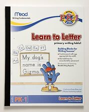 Mead Learn To Letter Primary Writing Tablet Grades PK-1 48166