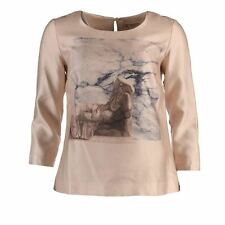 NICE THINGS PALOMA S Top Beige Sculpture Print Size 38 / UK 10 FM 129