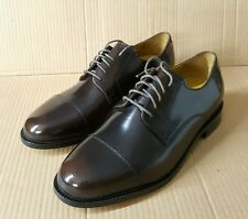 Branded Burgundy Derby Cap-Toe Shoes UK6.5, 7.5, 11 Authentic Leather Sole