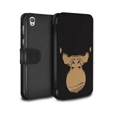 PU Leather Case/Cover/Wallet Sony Xperia E5/Animal Faces/Gorilla/Chimp/Monkey