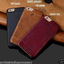 PIERRE CARDIN Genuine Leather Hard Back Case Cover For iPhone 5 5S SE 6 6S Plus
