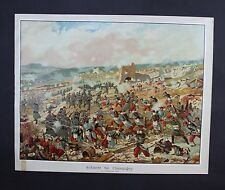 1870 - Schlacht bei Champigny bataille Militaria Lithographie Plakat poster