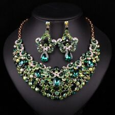 Fashion Gold Plated Necklace Earring Indian Bridal Jewelry Sets For Brides Weddi