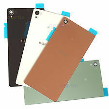 Sony Xperia Z3 Replacement Back Rear Battery Door Glass Panel(White,Black)