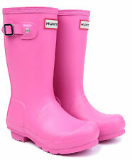 HUNTER ORIGINAL KIDS'JUNIORS   WELLINGTON BOOTS – FUSHIA