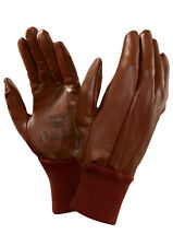 6 Pairs Ansell Hyd-Tuff 52-502 Men Work Gloves Nitrile Full Coated Anti Static