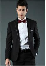 Mens Black Tuxedo Slim fit Men Blazer Suit Coat Jacket ( Free Boe )