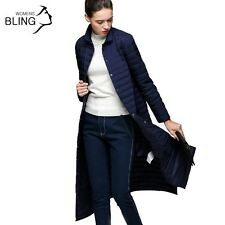 Winter Jacket Women 90 % White Duck Down Coat Slim Fit Thin Solid Jacket Trench