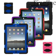 Tough Military HEAVY DUTY Builder Shock Proof Survival Case FOR APPLE IPAD MODEL