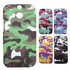 Heartly Army & Strip Style Retro Thin Hard Back Case Cover For HTC One M8 Mini 2