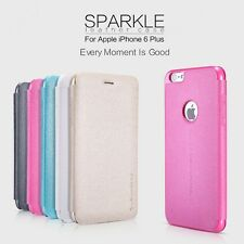 Nillkin Sparkle Leather Flip Stand Hard Back Case Cover For Apple iPhone 6 Plus