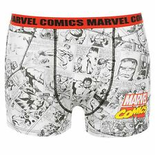 Marvel Comics Boxer Shorts Underwear Juniors White Trunks Pants