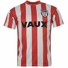 Sunderland AFC 1990 Home Jersey Mens Score Draw Red/White EPL Football Soccer