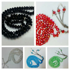 Crystal Prayer beads / worry beads / Tasbeeh / Tasbih /Masbaha / Rosary 99 beads