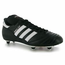 Adidas World Cup Soft Ground Mens Football Boots Black/White Soccer Footwear