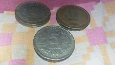 5 rupees coins years 1999 2000 2000 3 pis