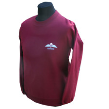 BRITISH AIRBORNE FORCES MAROON PARA WINGS PARACHUTE WINGS SWEAT SHIRT-SMALL