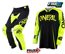 COMPLETO CROSS ENDURO ONEAL MAYHEM BLOCKER FLUO MAGLIA M L XL PANTALONE 50 52