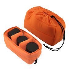DSLR SLR Camera Insert Padded Partition Camera Lens Bag Handbag Case Orange CO