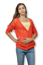 Gilet B.YOUNG femme manches longues couleur orange fin de collection