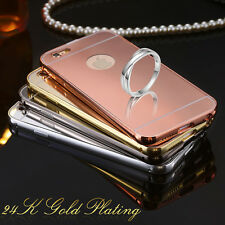 Apple iPhone 5 / 6 / 6 PLUS Luxury Aluminum Frame Mirror Back Cover Case Bumper