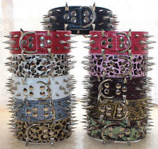 Spiked Studded Dog Collar Leather Pet Collars for Big Dog Pitbull Boxer S M L XL