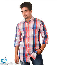 Men Multi-color Broad Checks Slim Fit Casual Shirt- Free Shipping + COD Avail.