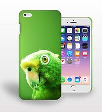 Green Parrot Bird Green Background Printed Phone Case Cover
