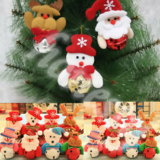 Santa Claus Merry Christmas Tree Hanging Ornaments Jingle Bell Decor Xmas Gift