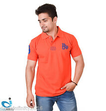 Mens Daily Essentials Pique Polo T-Shirt (Vermilion)