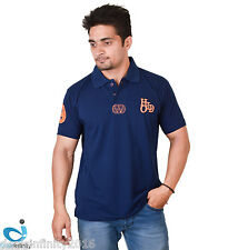 Mens Daily Essentials Pique Polo T-Shirt (Navy Blue)