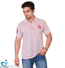 Mens Daily Essentials Pique Polo T-Shirt (Pink)