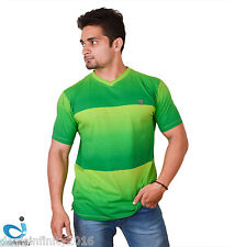 Mens Sublime High Stretch Quick dry Sports V-Neck T-Shirt