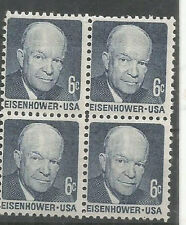 USA - MINT BLOCK OF 4 - PRESIDENT - EISENHOWER