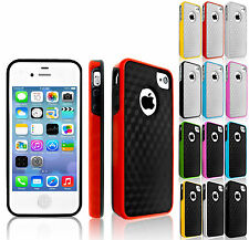 Hard Silicone Carbon Fiber Colour Bumper Rim Case Cover For iPhone 6 5C 5S 5 4S