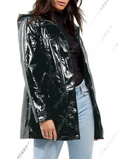 NEW WATERPROOF Festival Mac Ladies PVC Raincoat Women Jacket Size 8 10 12 14 16