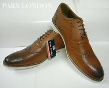 PARX London Men's Semi Formal Leather Brogue Shoes UK/IND 40/6