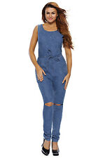 Boldgal Romper Playsuit Ladies Women's Nightclub Denim Dress Jumpsuit