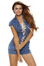 Boldgal Romper Women's Ladies Playsuit Denim Club Cocktail Jumpsuit
