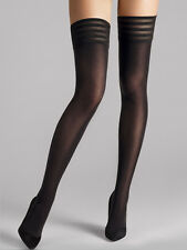 Wolford Velvet De Luxe 50 Stay-Up, Opaque Hold-Ups, Luxury Black Thigh Highs