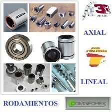 Rodamientos AXIAL MR, ZZ y LINEAL LM6UU, LM8UU, AXIAL and LINEAR Bearings, 3D
